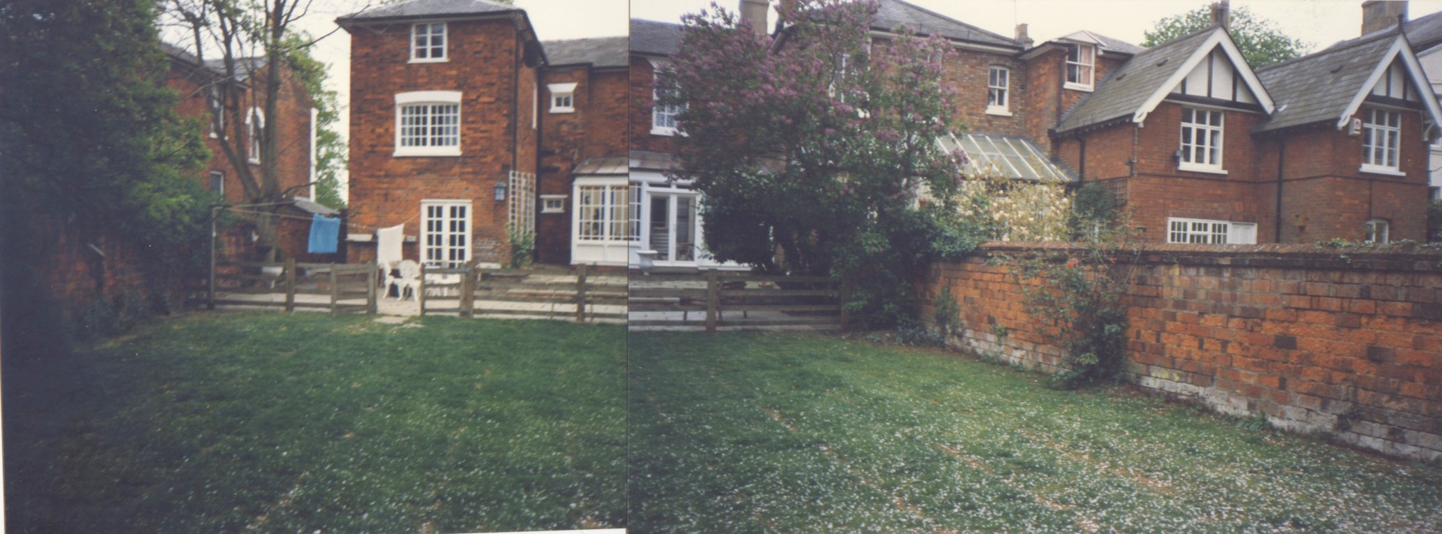 The 'before design' garden view back toward house