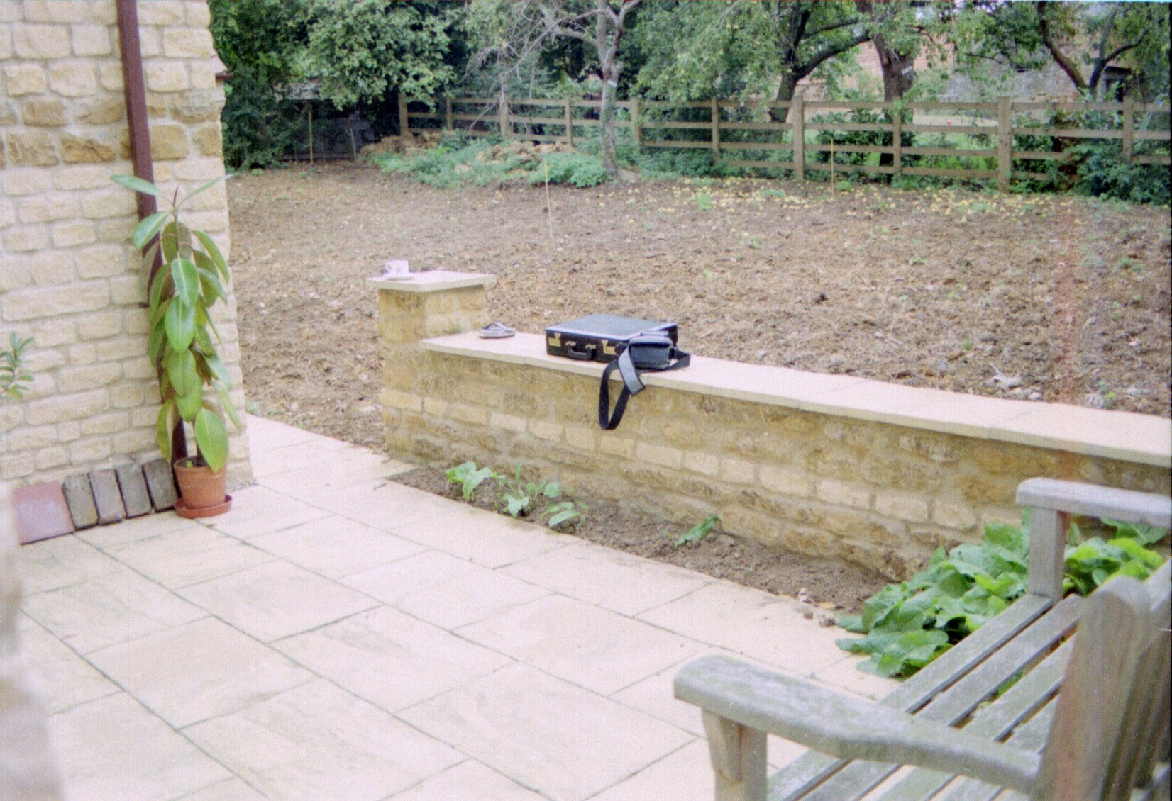 Small estate garden before